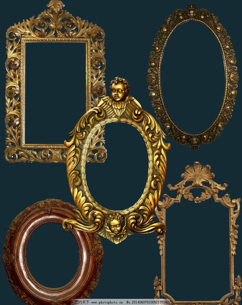镜子psd素材复古镜框-镜子psd素材