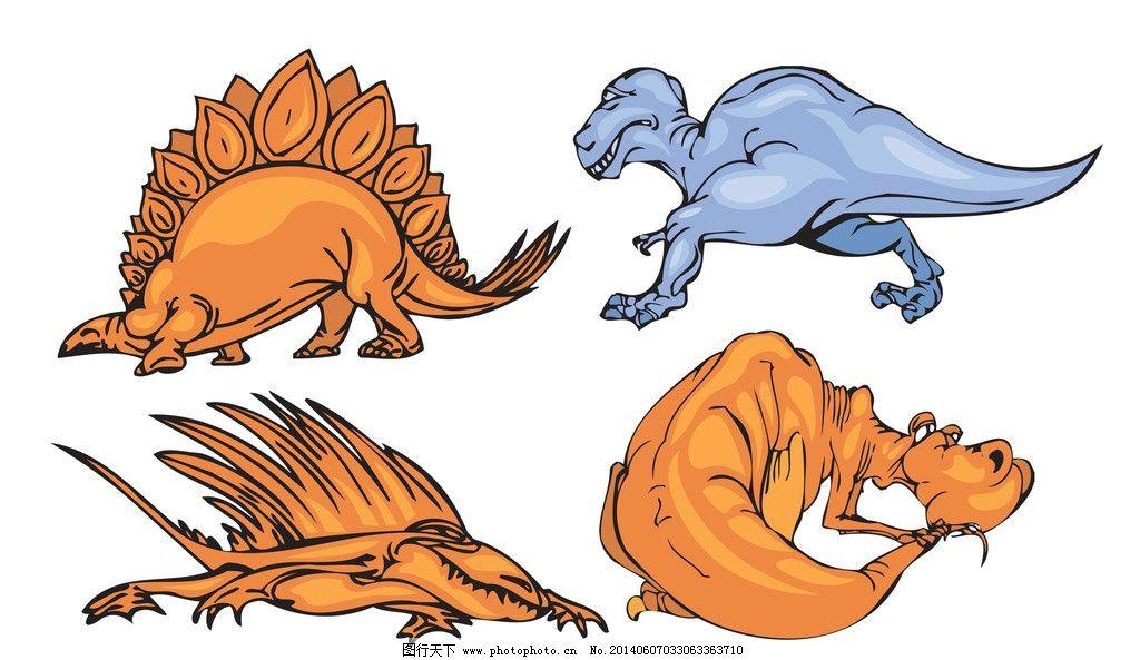卡通恐龙 恐龙 卡通 简笔画 儿童画 插画 韩式 清新 可爱 手绘 侏罗纪