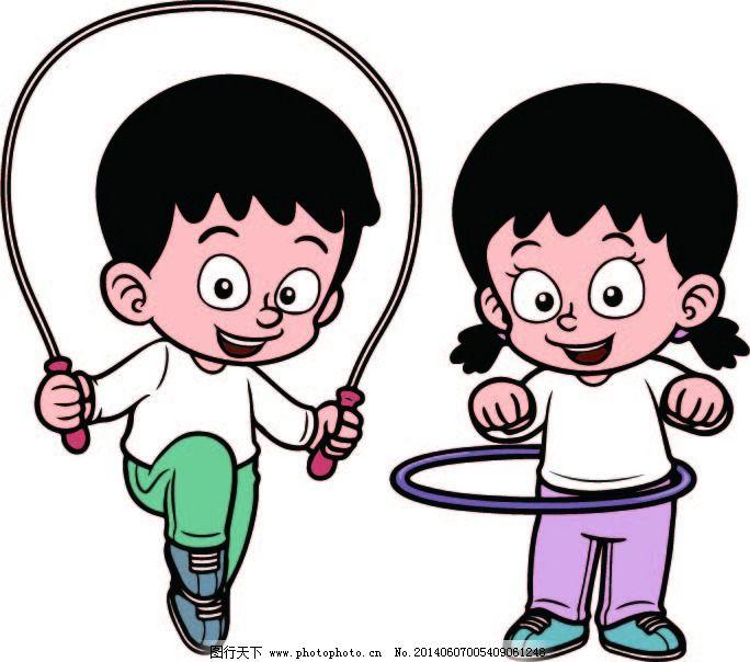 运动免费下载 跳绳 运动 运动 可通人物 跳绳 矢量图 矢量人物