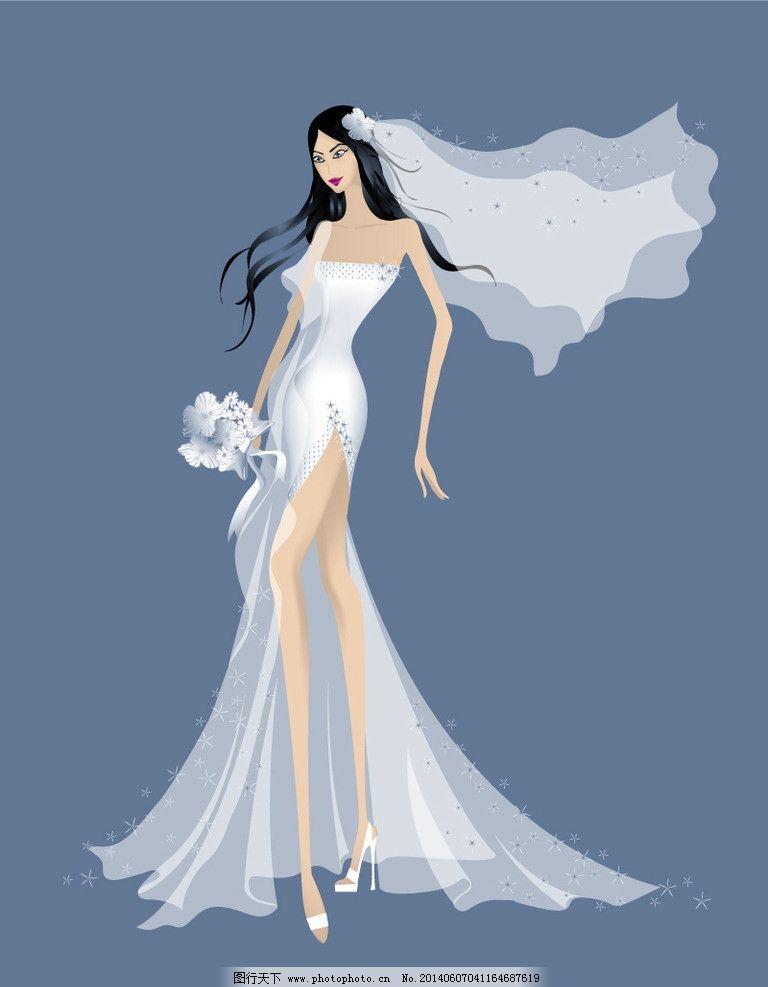 手绘古代暗黑新娘