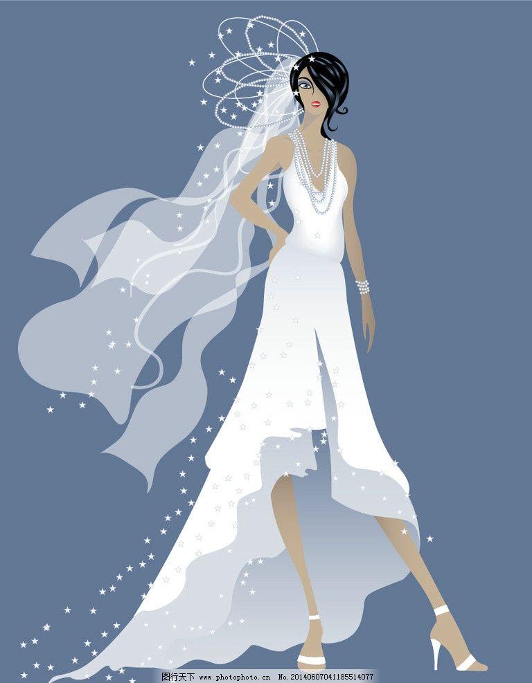 新娘 卡通少女 手绘少女 婚纱 女孩 性感 卡通表情 卡通笑脸图片
