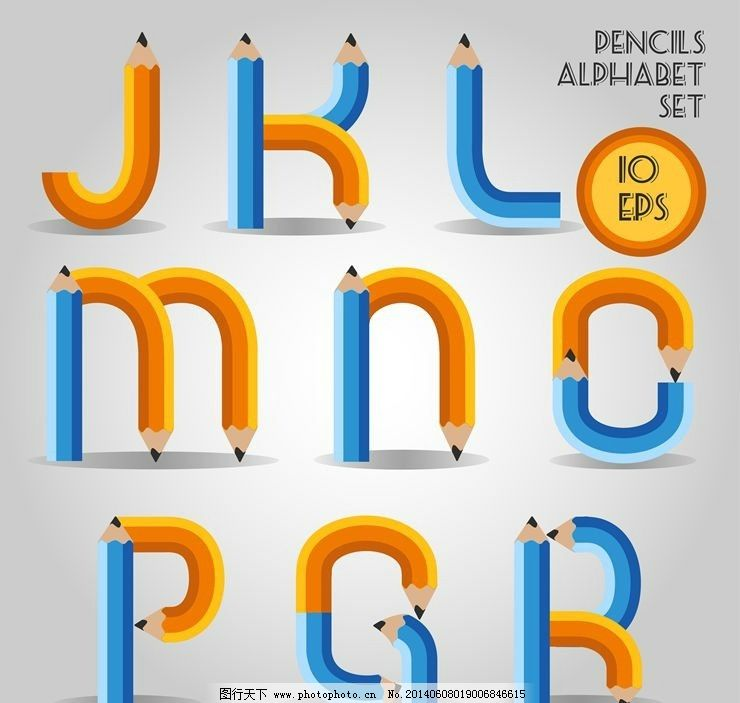 英文字母设计 字体设计 ps字体 英文字体 绚丽字体 数字字体 数字设计