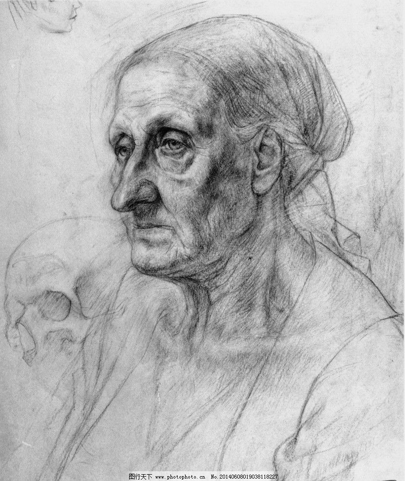 素描头像 俄罗斯 列宾 俄罗斯列宾美术学院 人物肖像 肖像画 绘画书法
