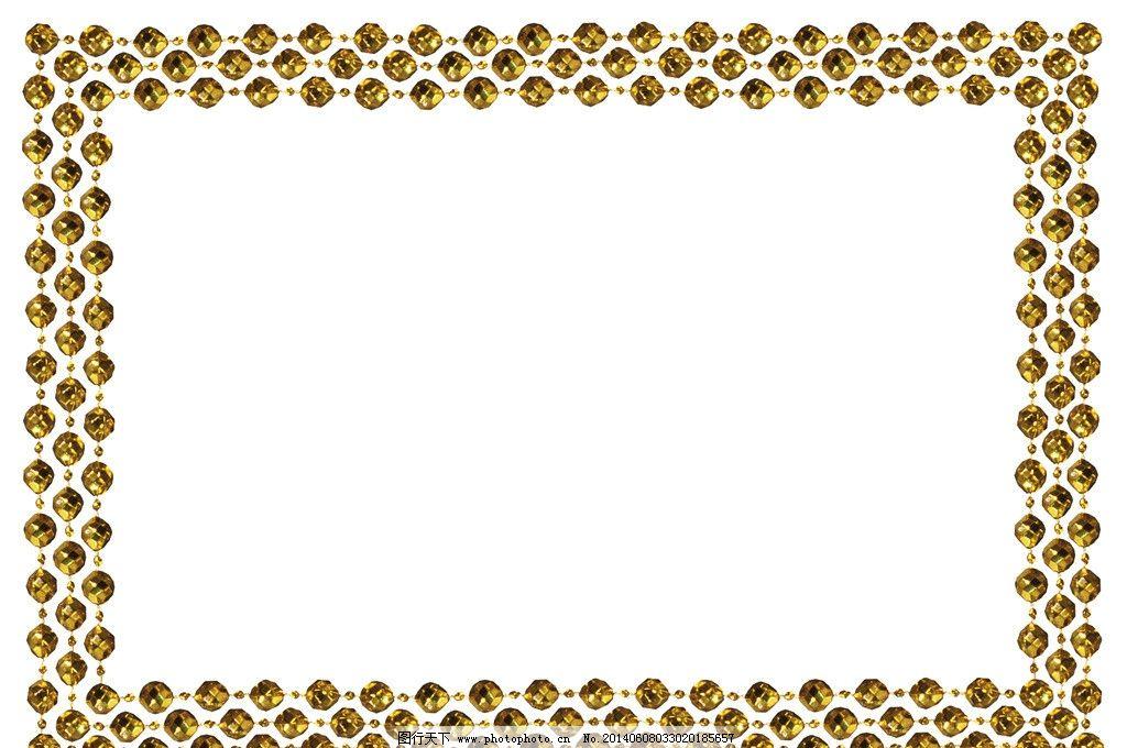 边框 画框 边角框 文字框 文本框 手绘花纹 珠子 宝石 日本