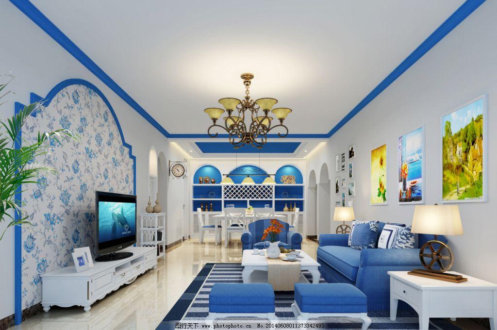 蓝色地中海 蓝色地中海免费下载 装修 地中海设计 家居装饰素材图片