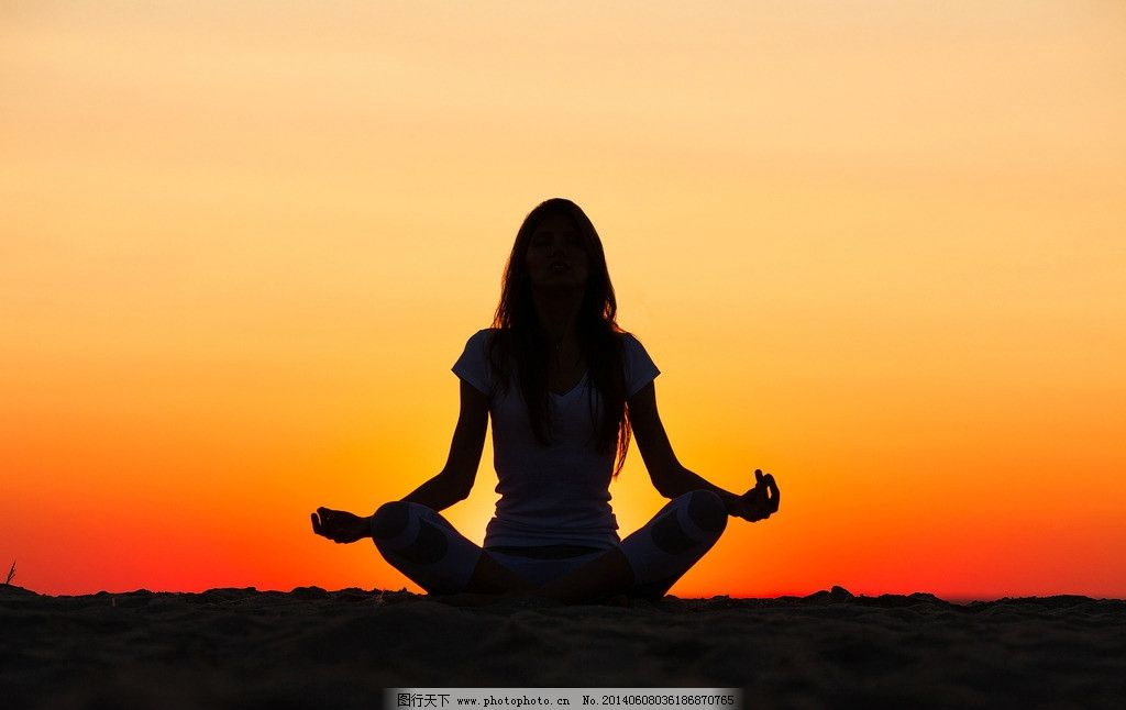 人物剪影 打坐 瑜伽 剪影 夕阳 日落 日出 背影 人物相关素材 日常