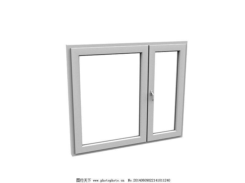 白色窗框免费下载 3d设计模型 max 欧式窗户 室内模型 源文件 欧式