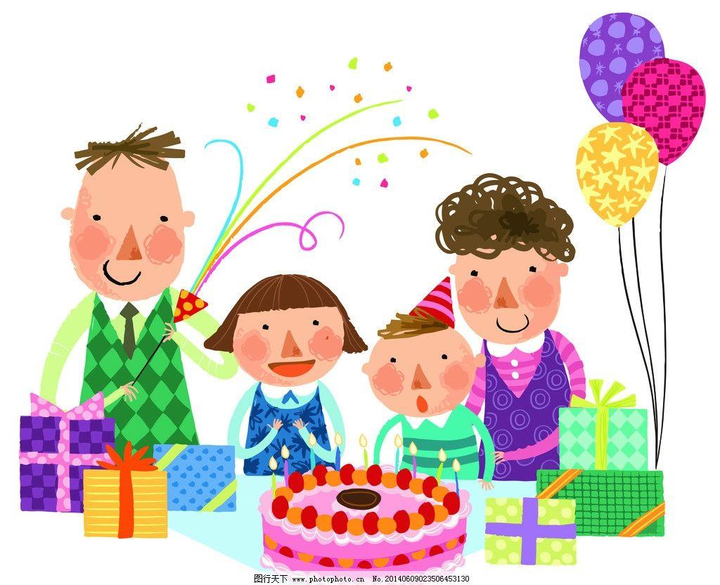 儿童手绘画过生日图片