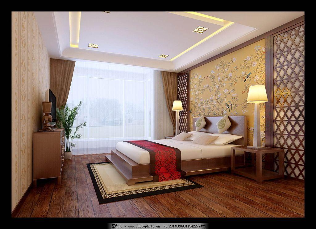 中式卧室素材图片