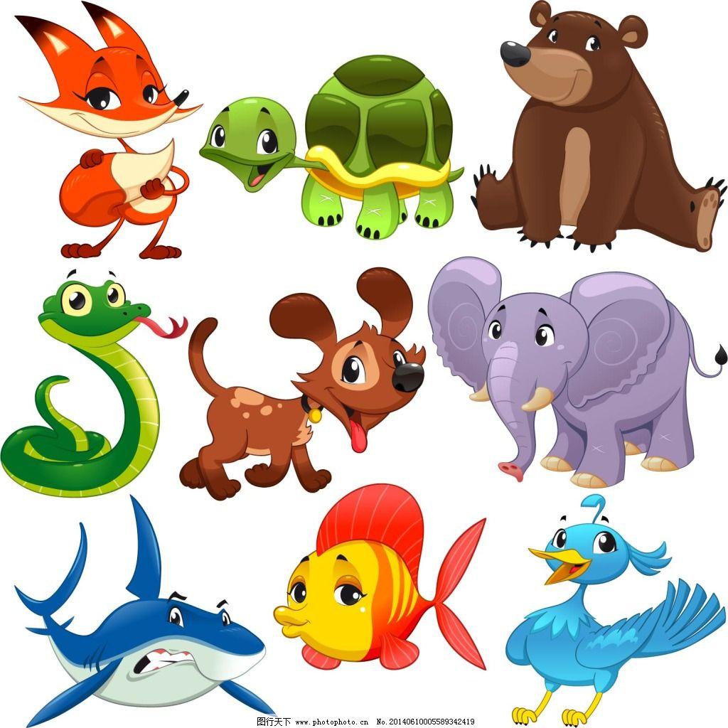 可爱卡通动物免费下载