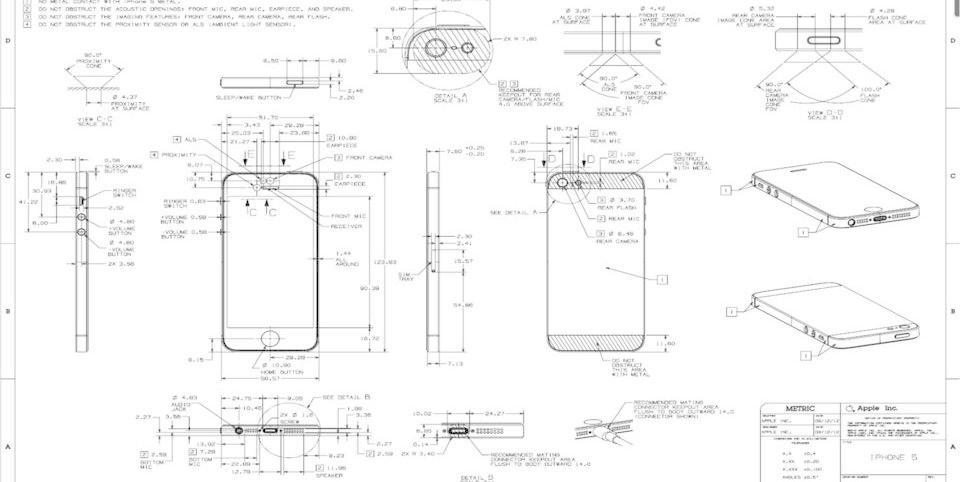 """下载"""">iphone 5图纸尺寸"""