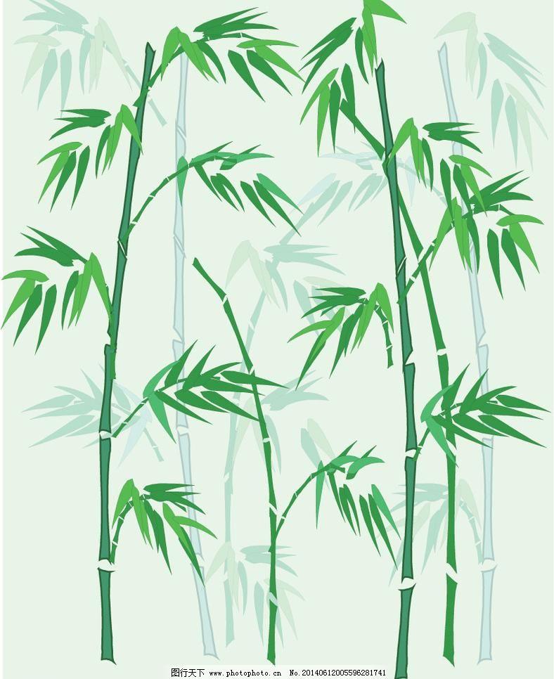 矢量竹子背景免费下载 背景 矢量图 手绘 竹子 竹子 背景 手绘 矢量图