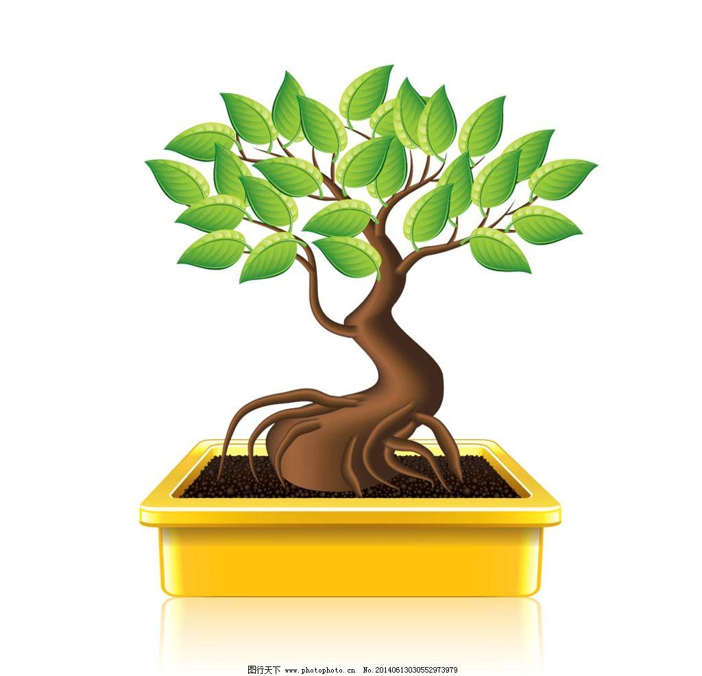 卡通树 春天树木 绿树