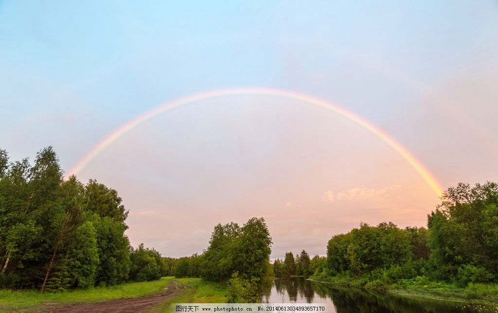 自然风景  彩虹 云彩 蓝天
