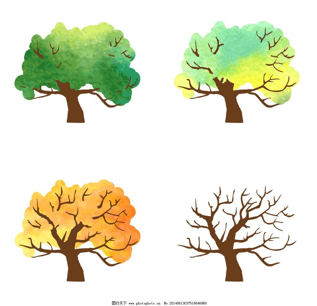 四季花纹树木图片_电脑网络_生活百科_图行天下图库图片