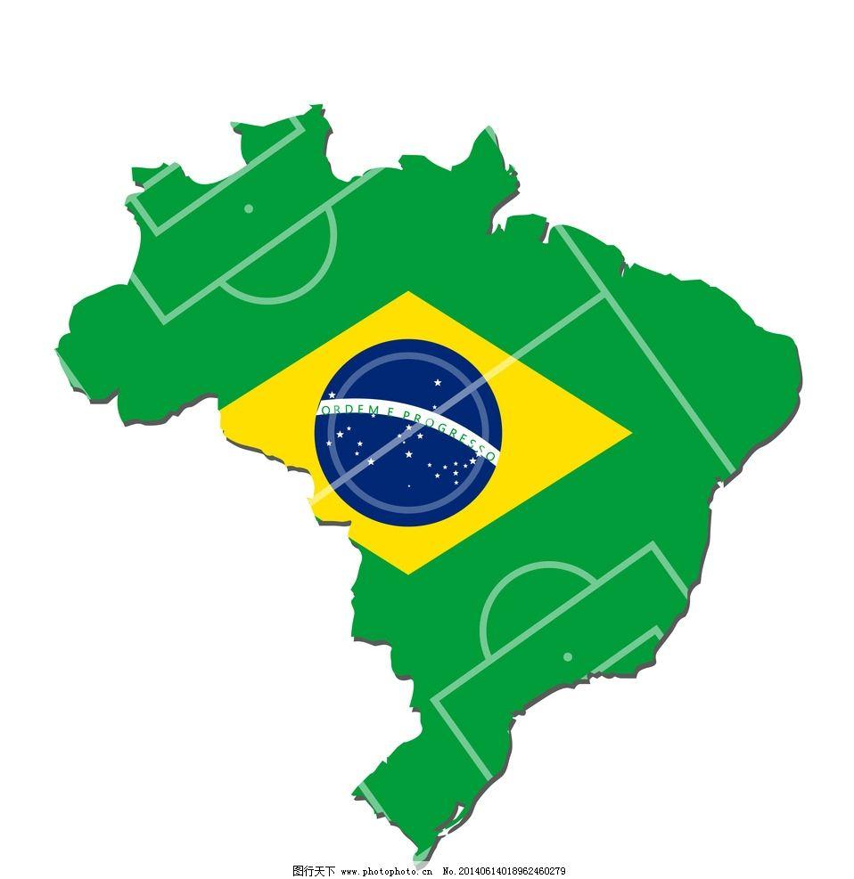 足球世界杯 2014世界杯 巴西图旗图案 手绘 世界杯背景 世界杯宣传