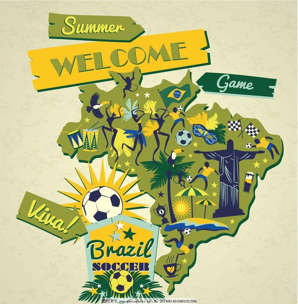 足球世界杯 2014世界杯 手绘 世界杯背景 世界杯宣传 巴西世界杯 世界