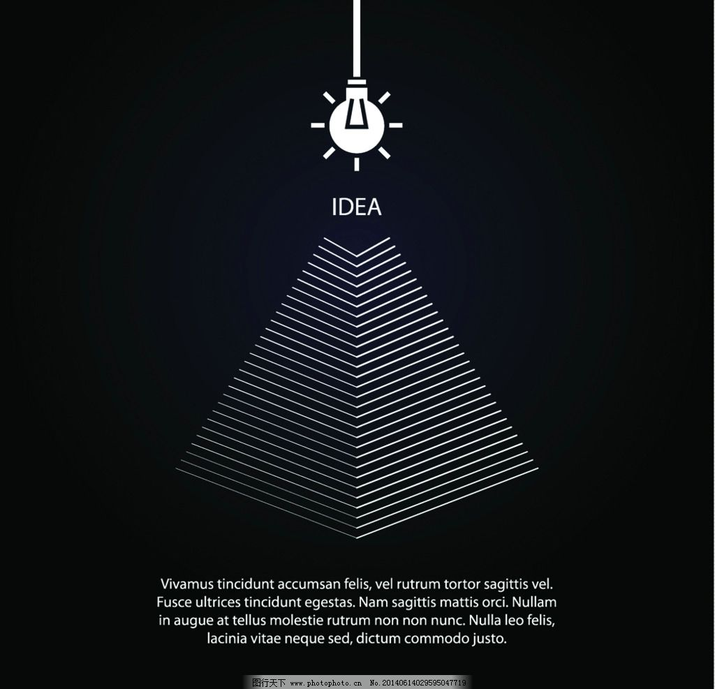 广告设计 设计案例  idea创意设计 ieda 灯泡 白炽灯 电灯 创意 手绘