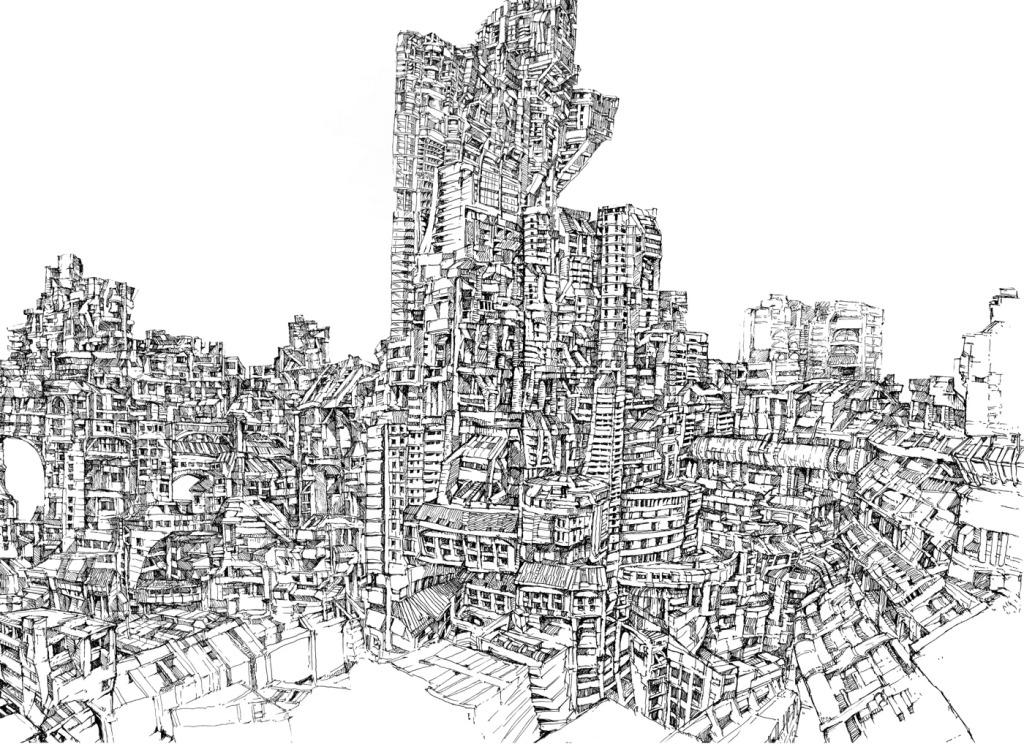 手绘建筑图免费下载 jpg 黑白 手绘建筑图 手绘建筑图 黑白 jpg 图片