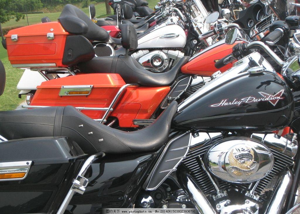 哈雷摩托车 黑色 二轮 昂贵 摄影
