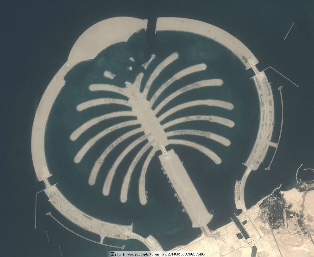 迪拜棕榈岛 棕榈树岛 人工岛屿 迪拜塔 帆船酒店 浪漫海岛 私人岛屿