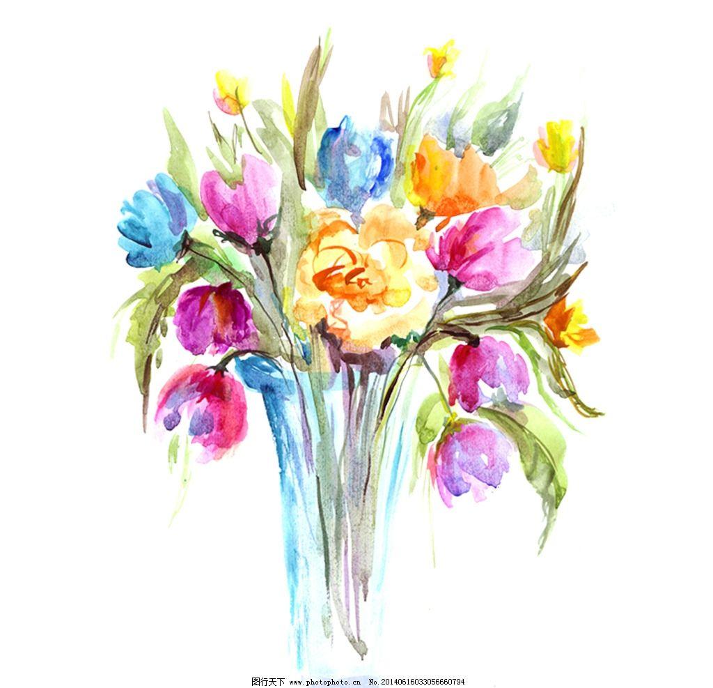 水彩风格手绘花卉图片,水彩花卉 水墨 花朵 鲜花 花束