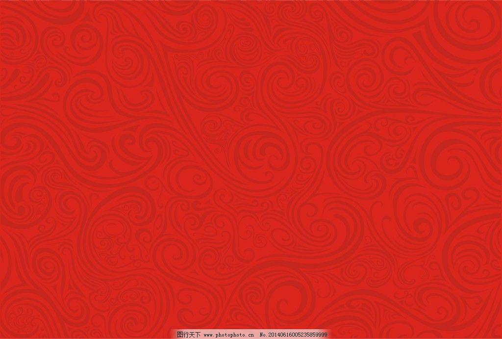红色喜庆花纹背景_花纹花边_矢量图_图行天下图库