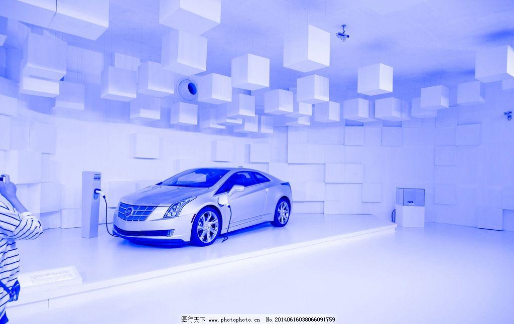 凯迪拉克车展 蓝色 汽车 展台 世纪公园 汽车展台 交通工具 现代科技