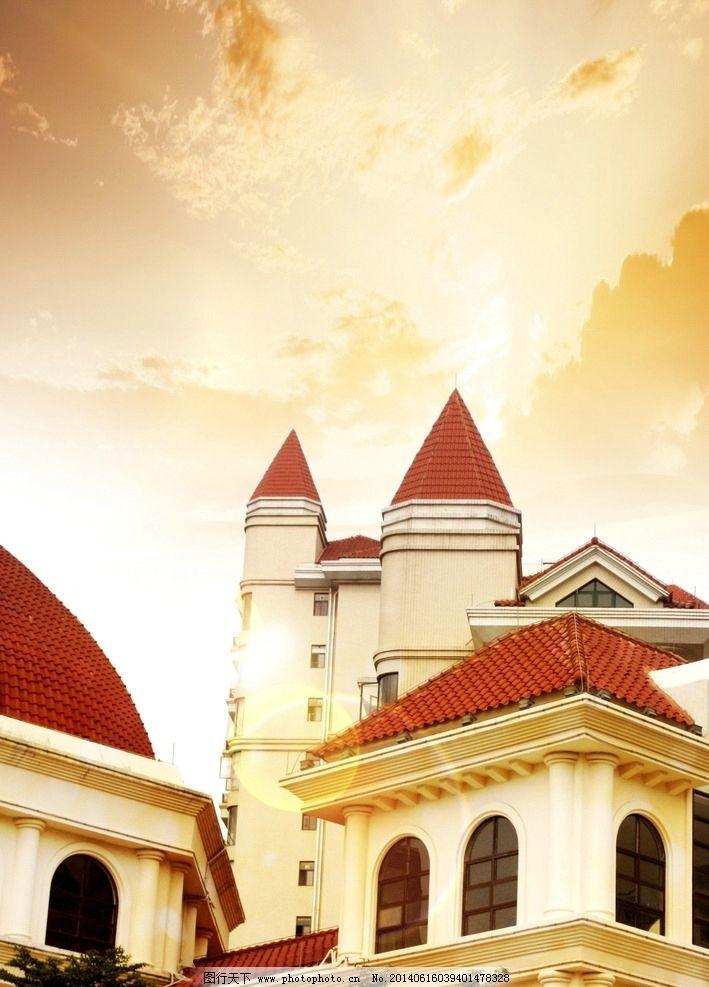 建筑 地产 西班牙 欧式 房顶 教堂 巴塞 欧洲 窗贴 欧式建筑 建筑摄影