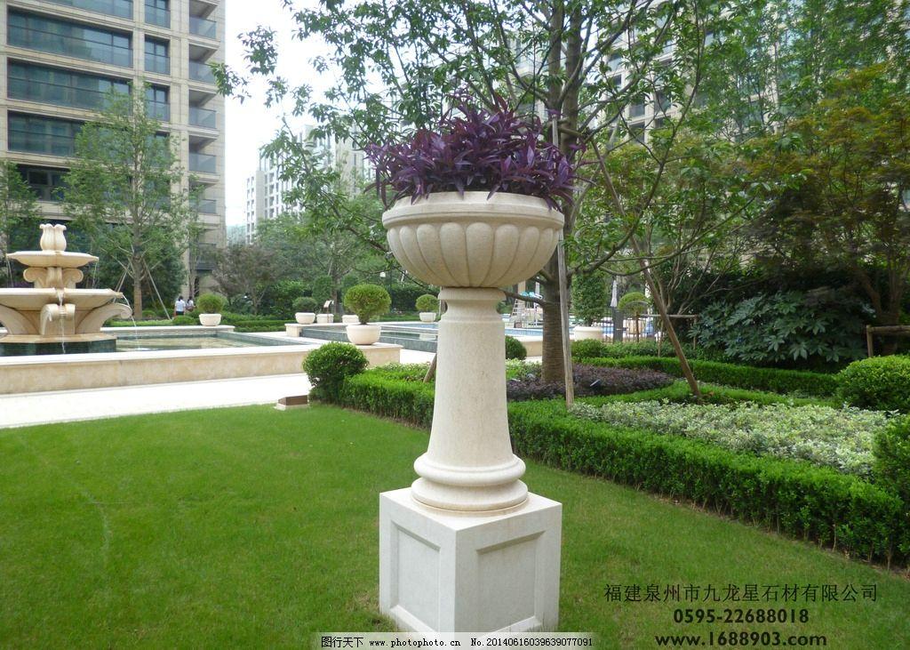 埃及米黄花盆 花钵厂家 花钵图片 花钵加工 惠安石雕 雕塑 建筑园林