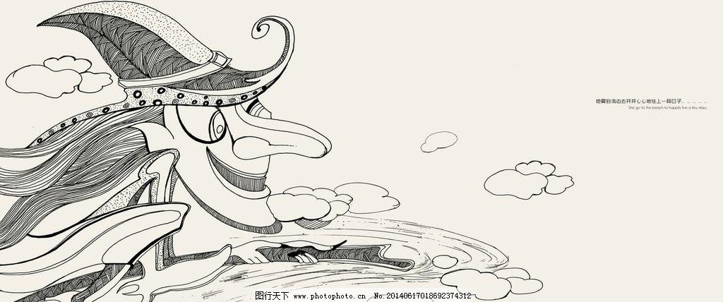 女巫插画图片