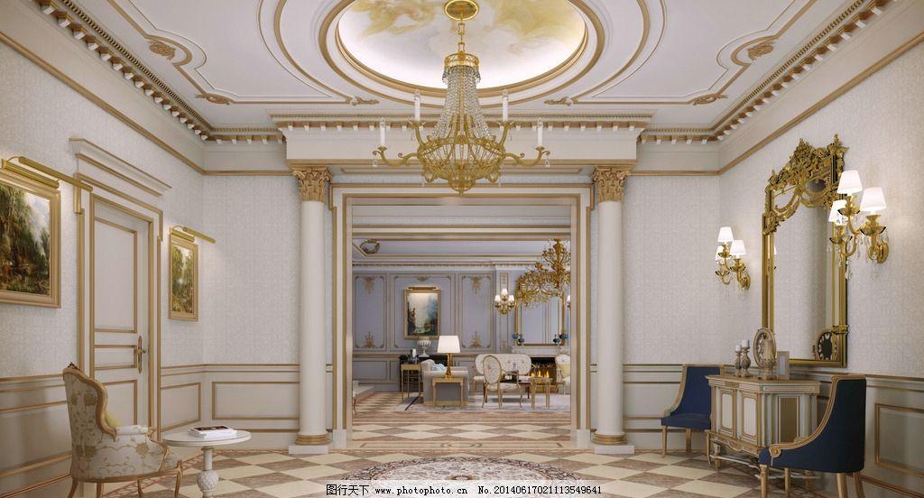 欧式高端别墅装饰效果图片