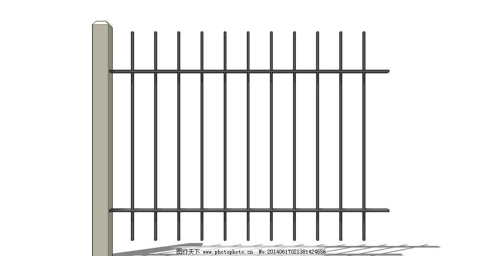 木围栏 木栅栏 围墙      护栏 室外模型 3d设计 设计 72dpi skp