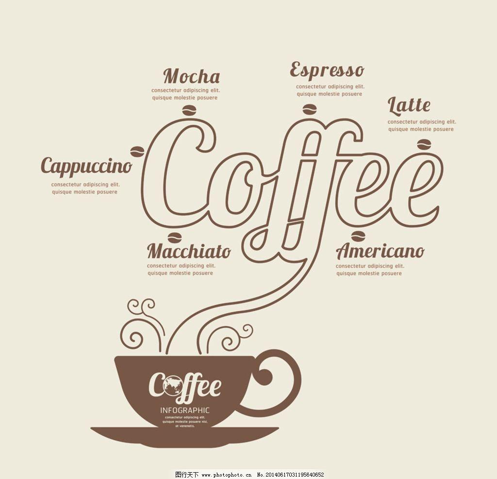 咖啡 coffee 咖啡文化 咖啡厅 手绘 菜单 西餐 菜谱 餐饮美食 生活