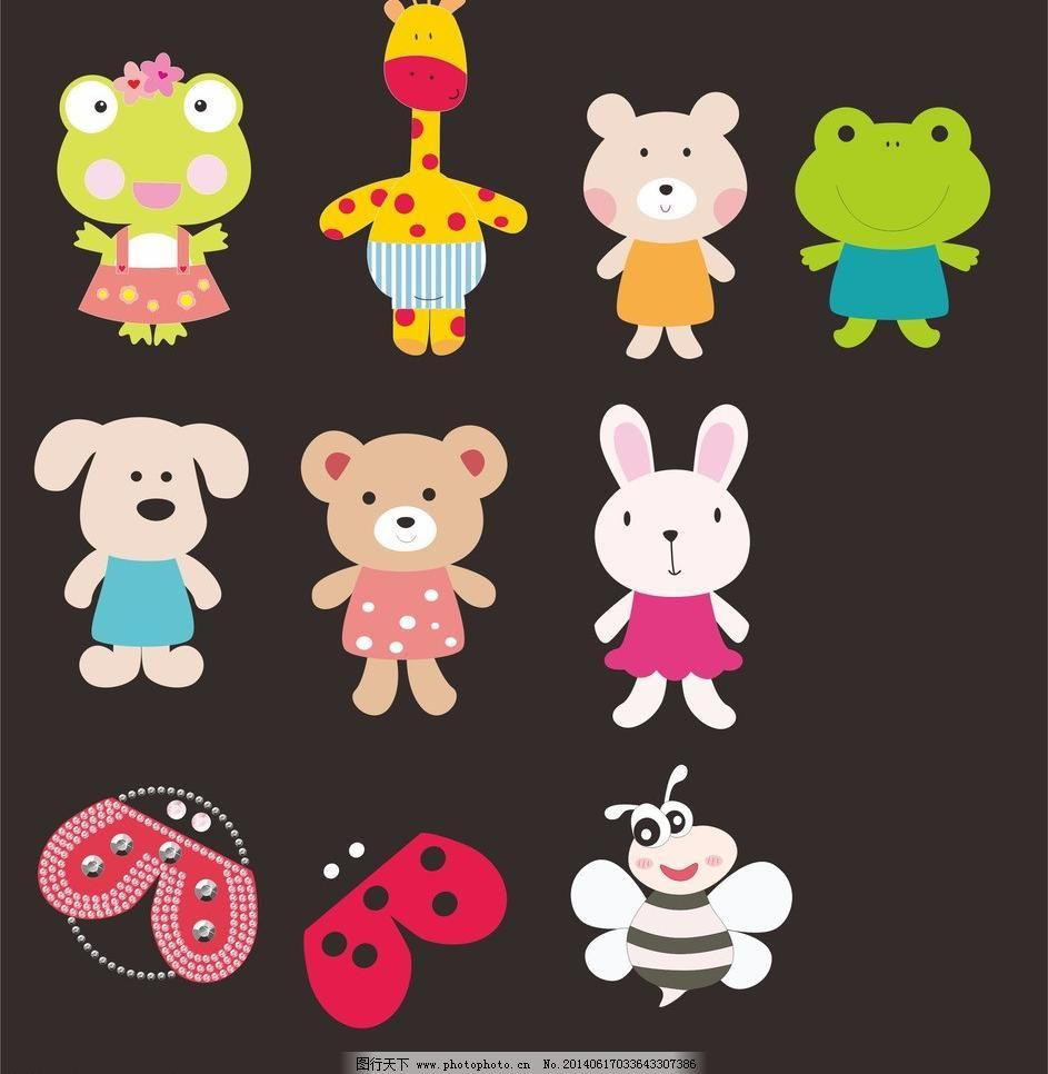 卡通模板下载 卡通头 镜子 梳子 兔子头 新卡通 可爱卡通 小卡通 卡通