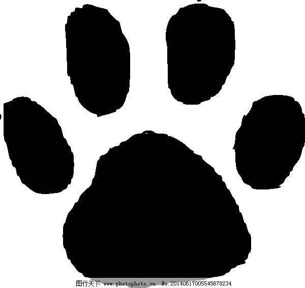 动物足迹的剪贴画