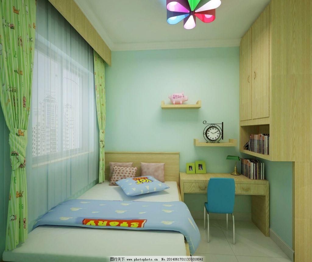 绿色儿童房免费下载 参考 室内 装修 室内 装修 参考 装饰素材 室内