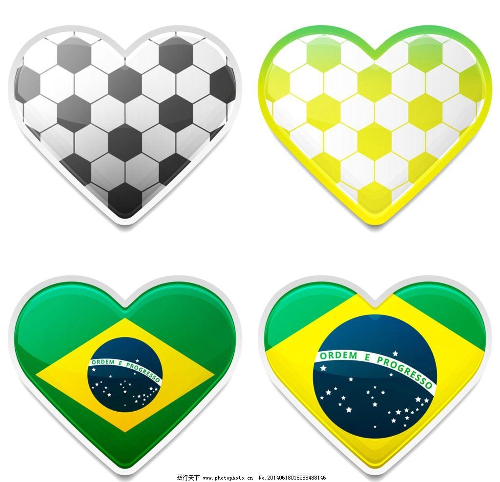 足球世界杯 2014世界杯 巴西国旗图案 手绘 世界杯背景 世界杯宣传
