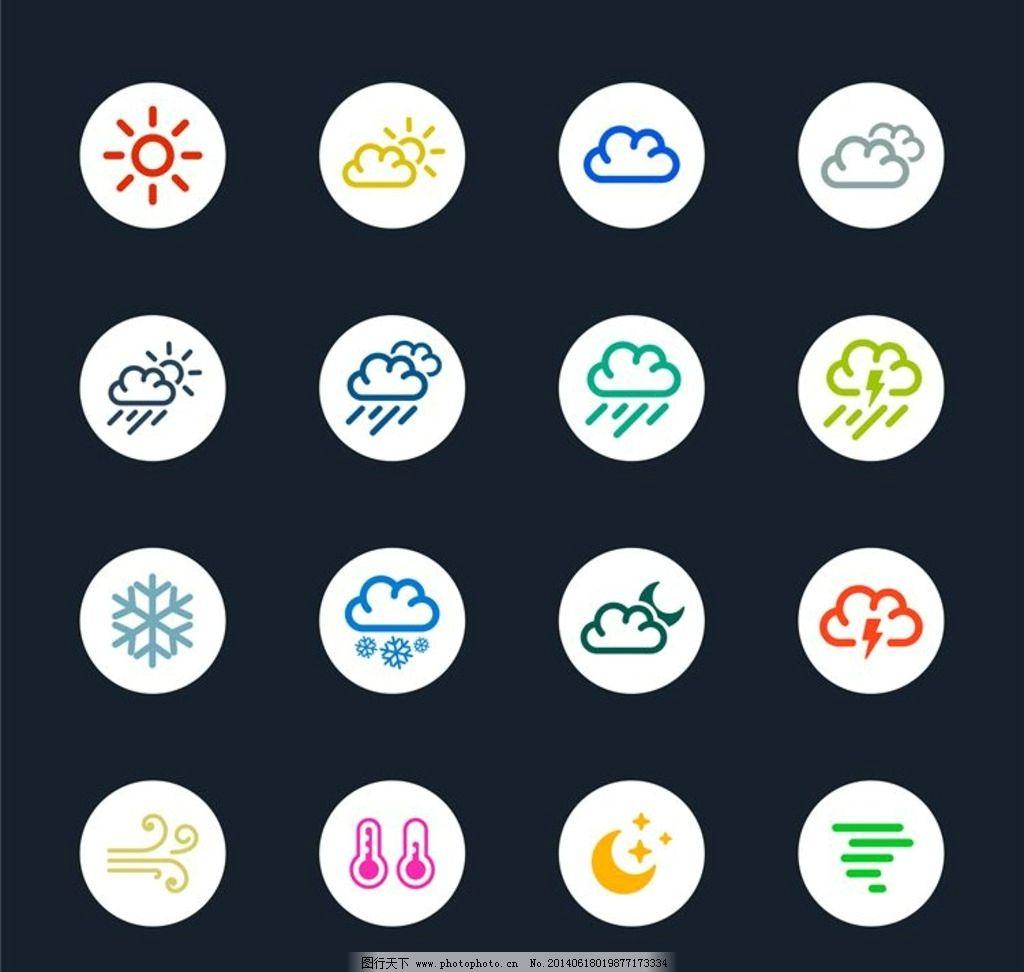 谁知道天气的标志都代表什么天气啊图片