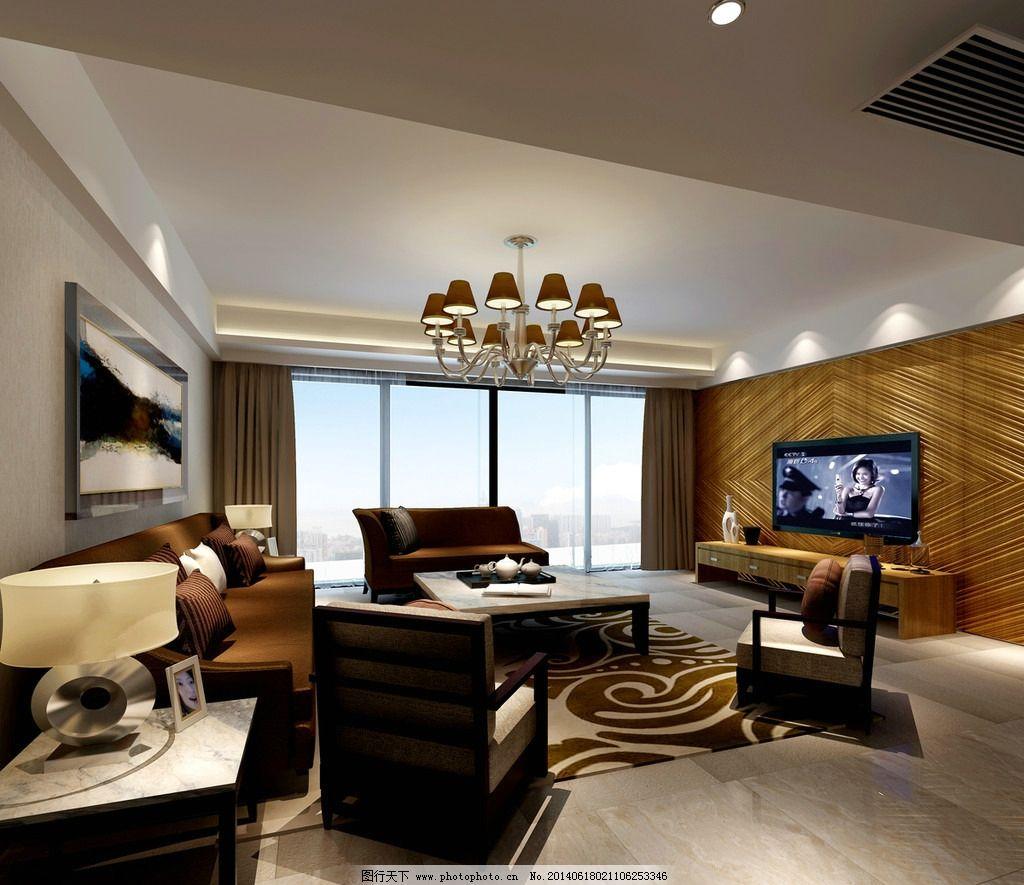 客厅3d效果图片_3d作品设计