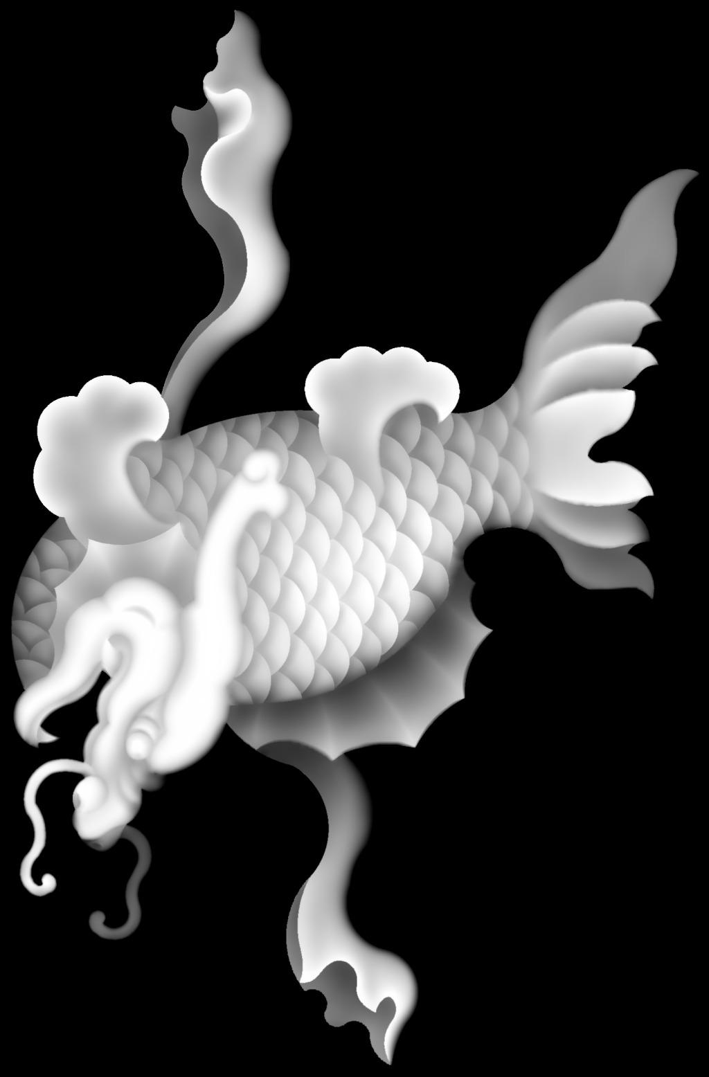 鱼灰度图免费下载 精雕图