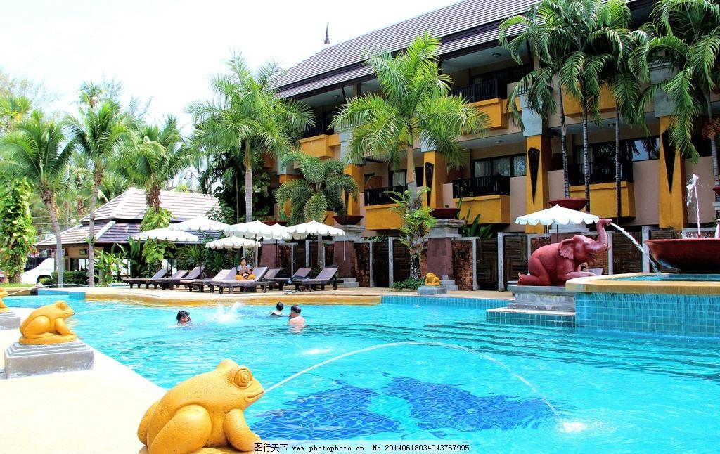 普吉岛宾馆 泰国普吉岛 普吉岛 普吉岛旅游 普吉岛游泳池 摄影图片