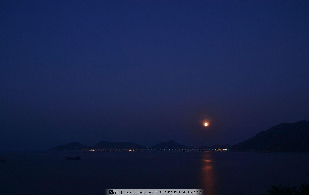 蓝色的下川岛夜景图片