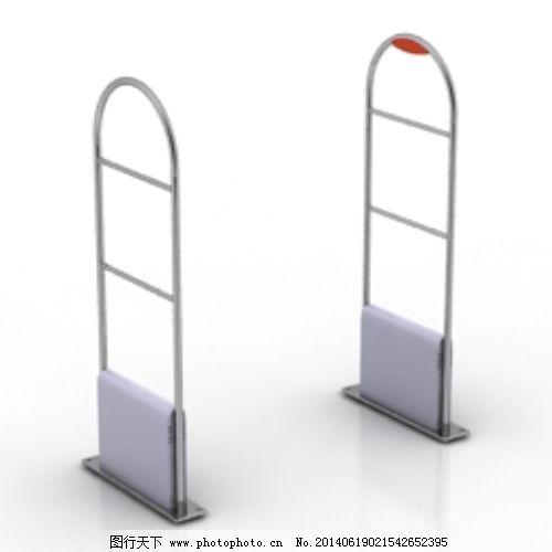 超市检测大门3d模型