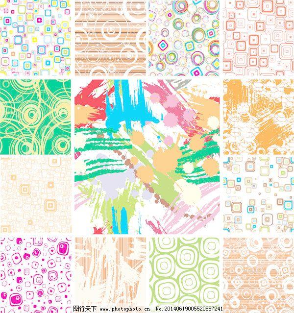 现代图形背景矢量图形免费下载 背景循环可爱的墨水格公园模式环泼墨