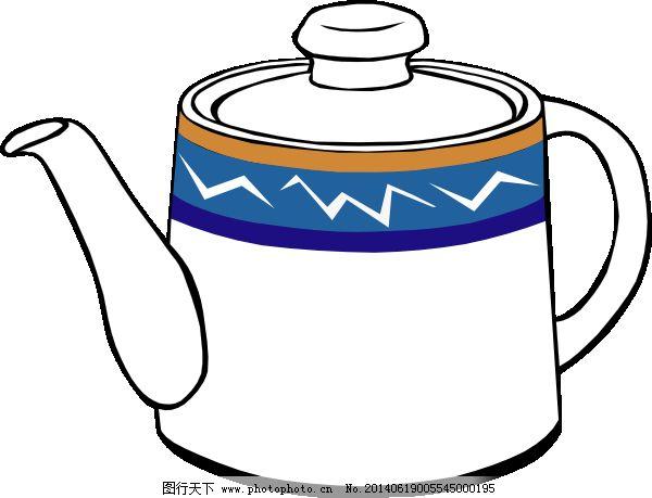 茶壶手绘效果图