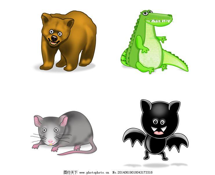 疯狂的小动物们免费下载 动物 恐龙 老鼠 老鼠 棕熊 动物 恐龙 网页