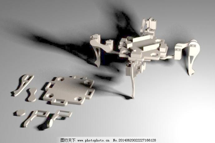 四足动物_3d打印模型_3d设计