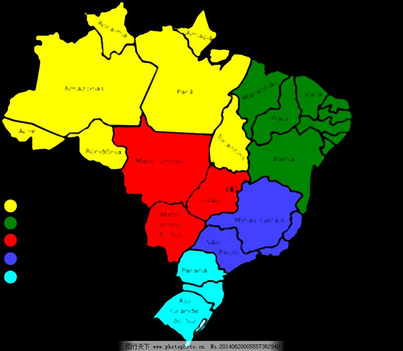 巴西地图,v3