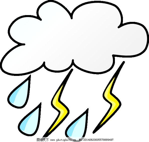天气可爱手绘简图